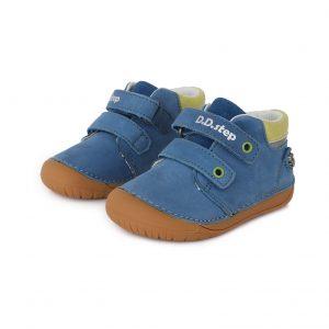 D.D.Step usnjeni čevlji Modri 063